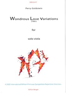 Wondrous Love Variations by Perry Goldstein